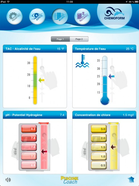 image écran 4 de diagnostic de l'application piscine coach